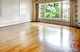 bright room with wood floor