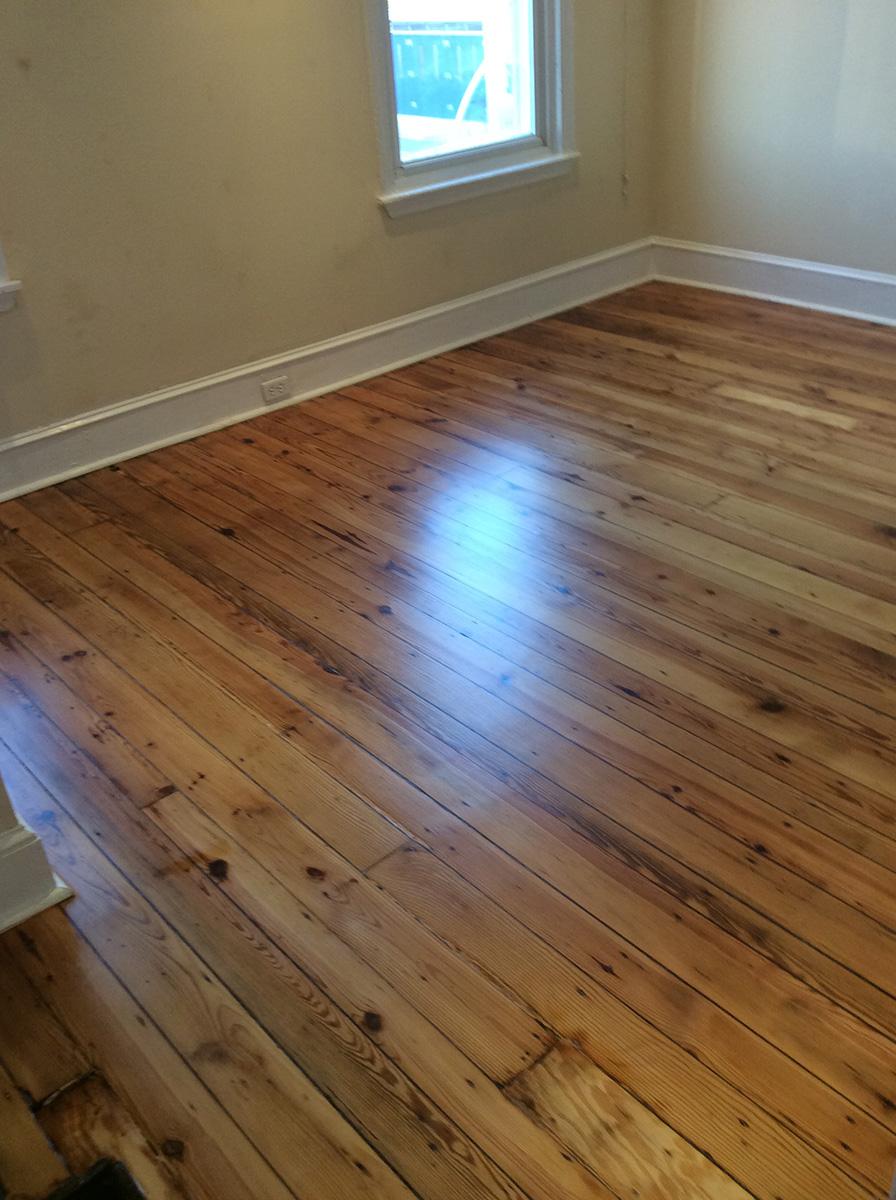 cleaned wood floor