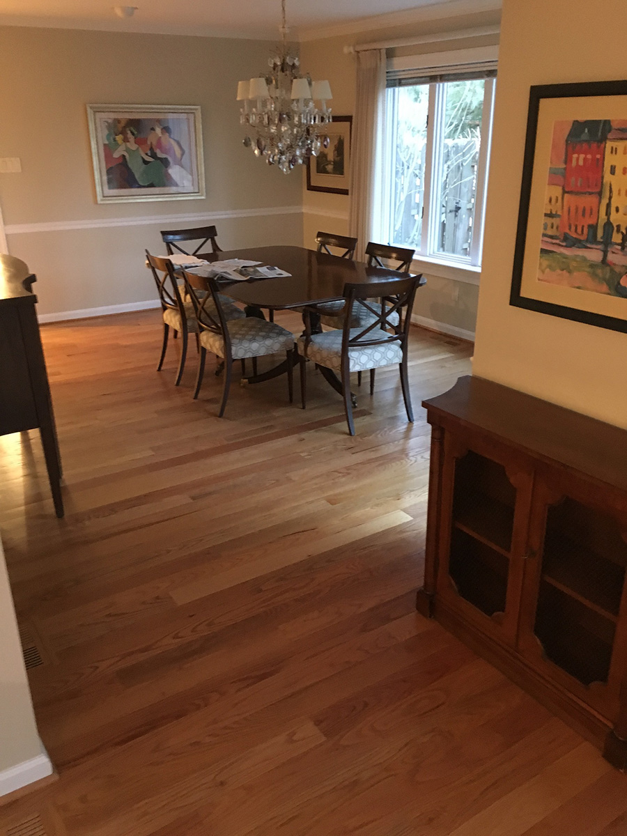 new floor in a dining room