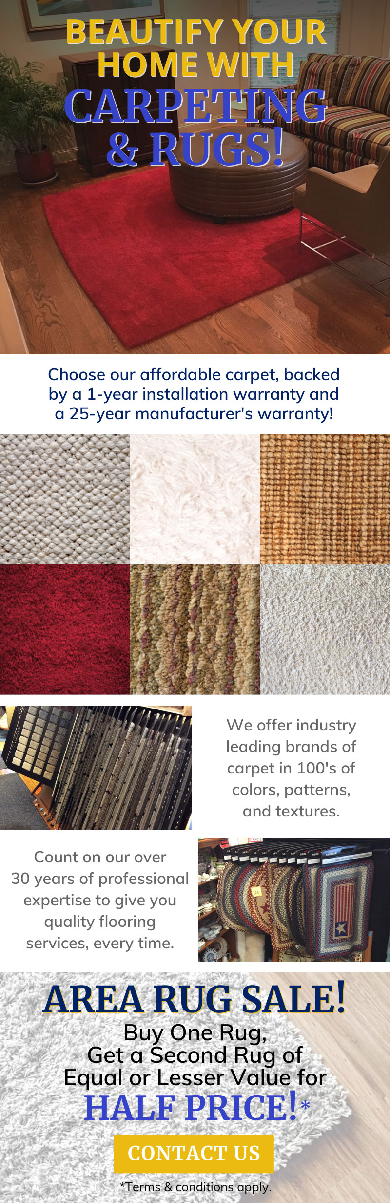 Check Out Our Area Rug Sale! 🎉 1